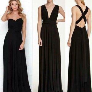 Elan Convertible long black dress one size